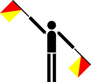 free vector Naval Semaphore Flag Annul clip art