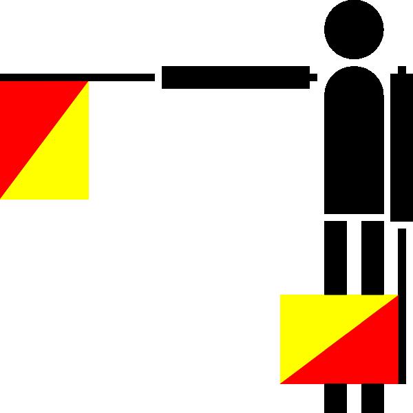 free vector Naval Semaphore Flag B clip art