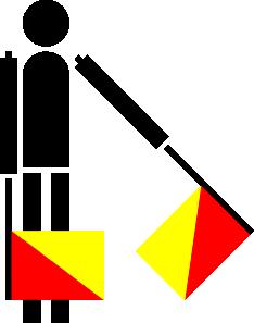 free vector Naval Semaphore Flag G clip art