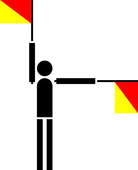free vector Naval Semaphore Flag J clip art