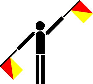 free vector Naval Semaphore Flag L clip art