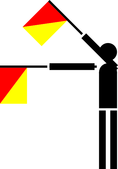 free vector Naval Semaphore Flag O clip art