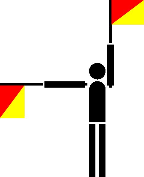 free vector Naval Semaphore Flag P clip art