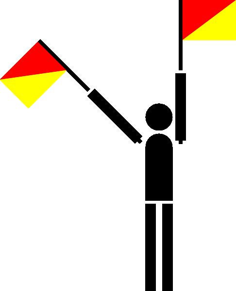 free vector Naval Semaphore Flag T clip art