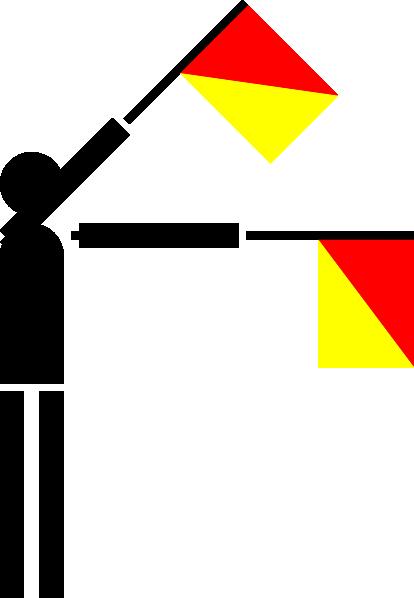 free vector Naval Semaphore Flag W clip art