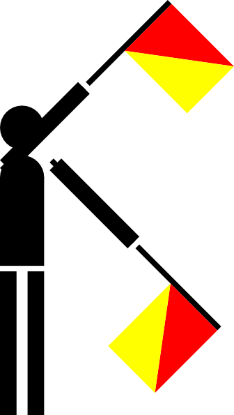 free vector Naval Semaphore Flag X clip art