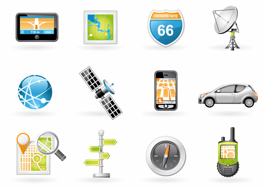 free vector Navigation and Transport Icons