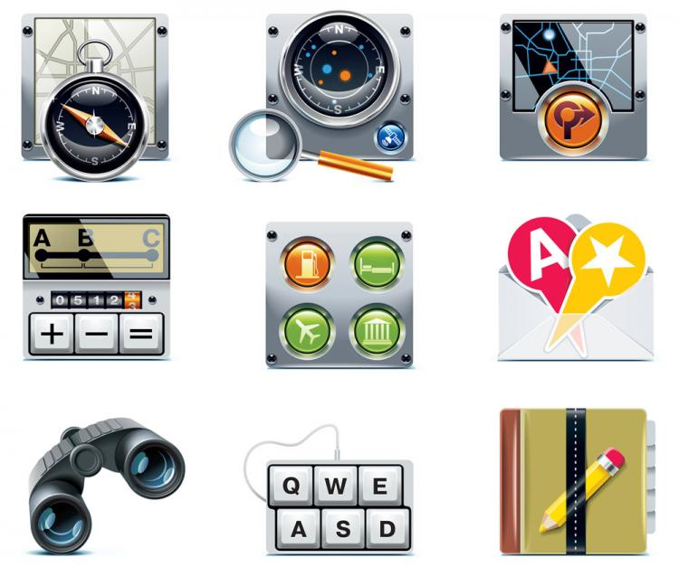 free vector Navigation icon 02 vector