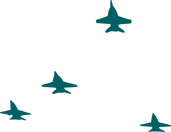 free vector Navy Planes Formation clip art