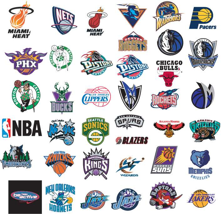 free vector NBA Basketball Team Vector Logos