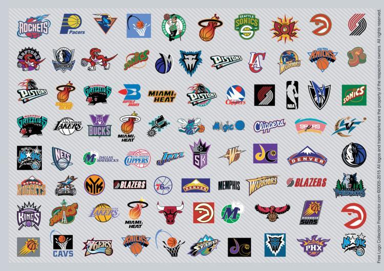 free vector NBA Team Logos