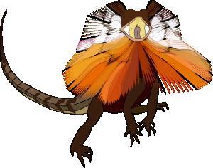 free vector Necked Lizard Dragon clip art