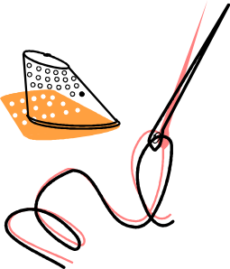 free vector Needle Thread And Timble clip art
