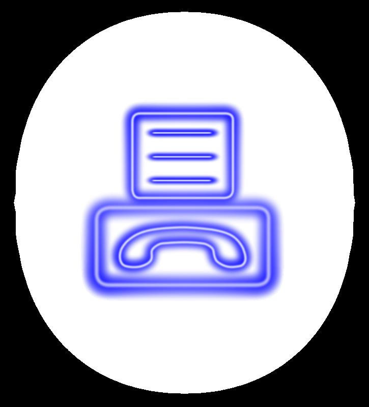 free vector Neon_fax_icon
