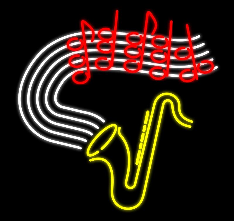 free vector Neon Music