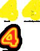 free vector Neon Numerals clip art