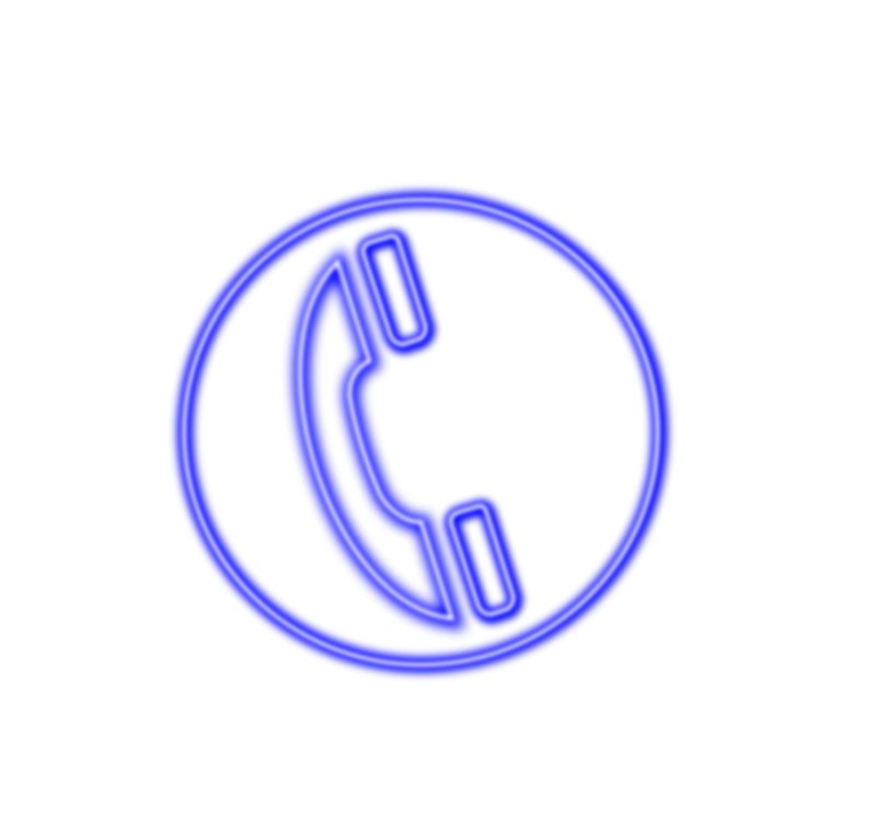 free vector Neon_phone_icon_blue