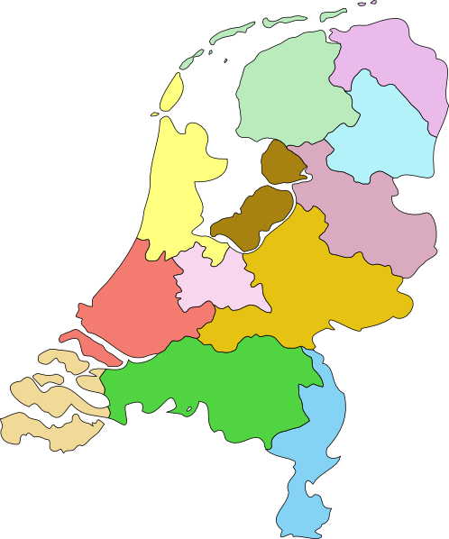 free vector Netherland Nederland Map clip art