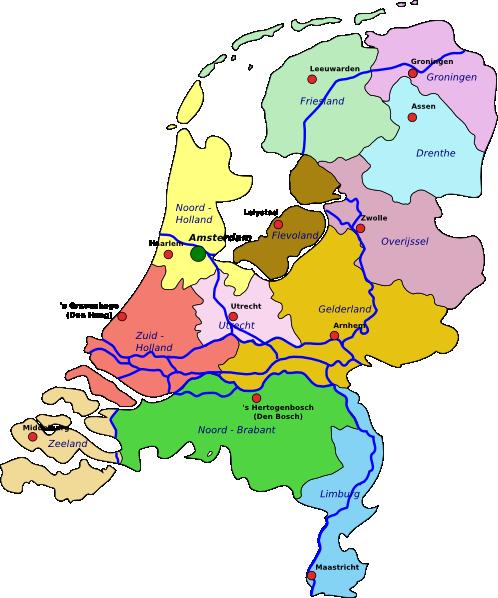 free vector Netherlands Map clip art