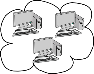 free vector Network Cloud Computing clip art