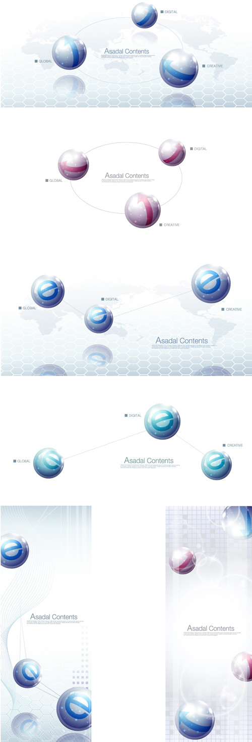 free vector Network, IT, E, water trails, a pool of water drops composed
