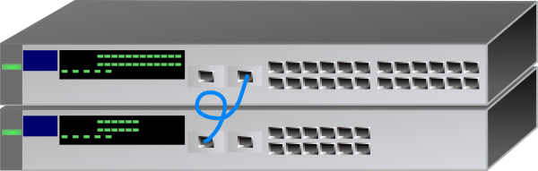 free vector Network Switch Stack clip art