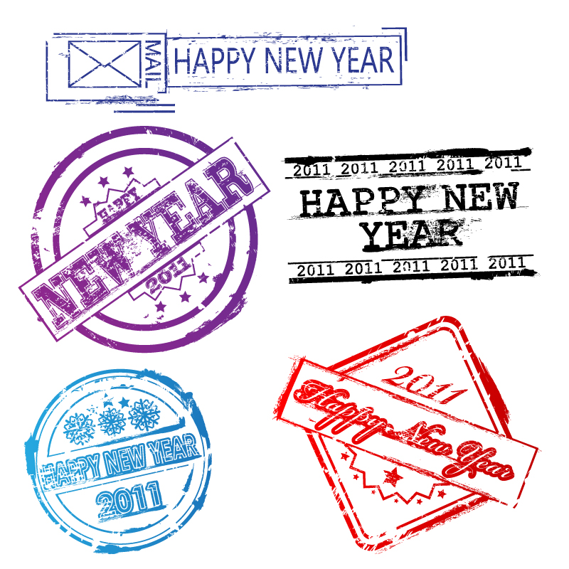 free vector New postmarks vector