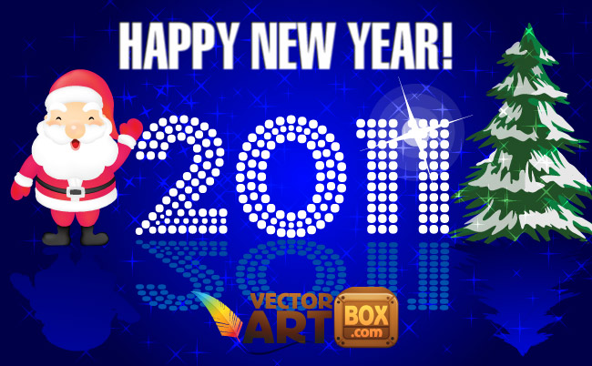 free vector New Year Card