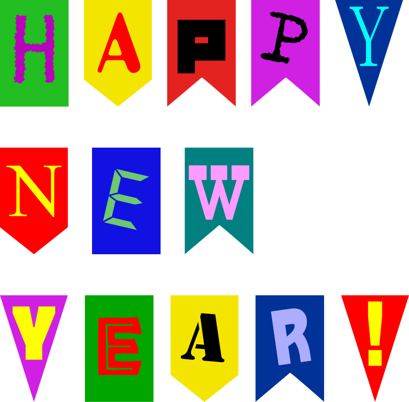 free vector New Year Flags by Rones
