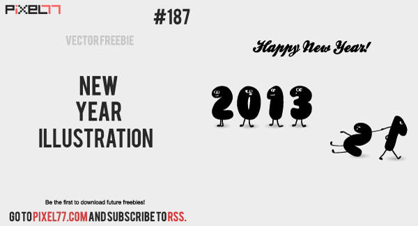 free vector New Year Illustration