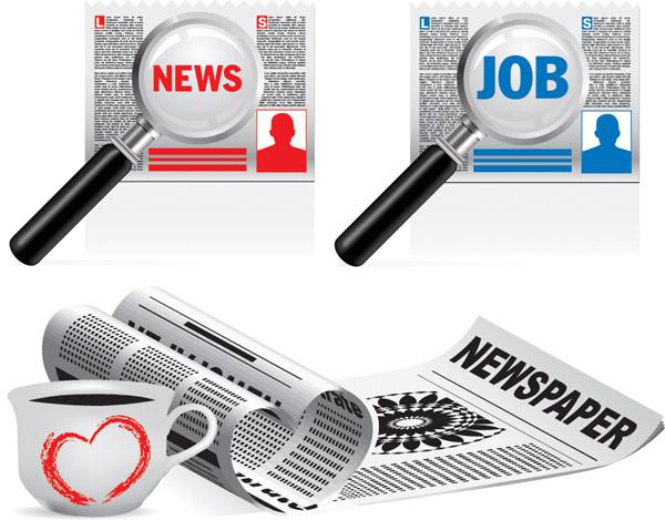 free vector Newspapers vector