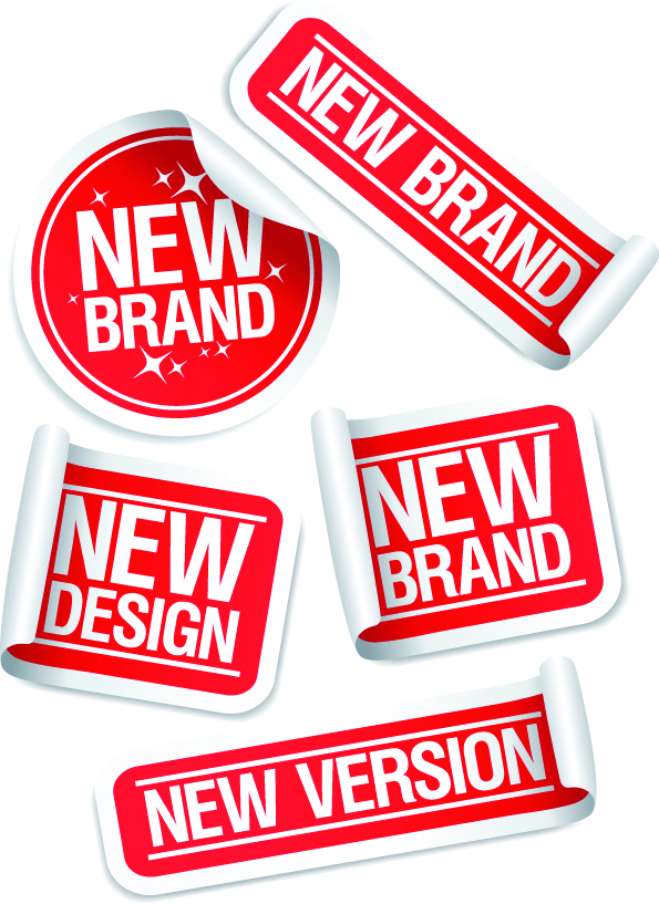 free vector Nice sticker label vector