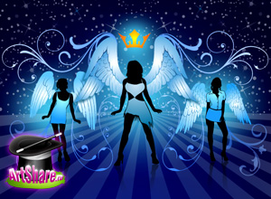 free vector Night Angels Free Vector Illustration