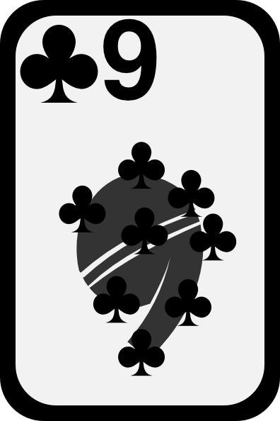free vector Nine Of Clubs clip art