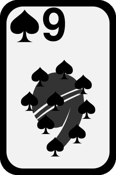 free vector Nine Of Spades clip art