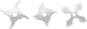 free vector Ninja Throwing Stars Weapons clip art