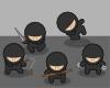 free vector Ninjas clip art