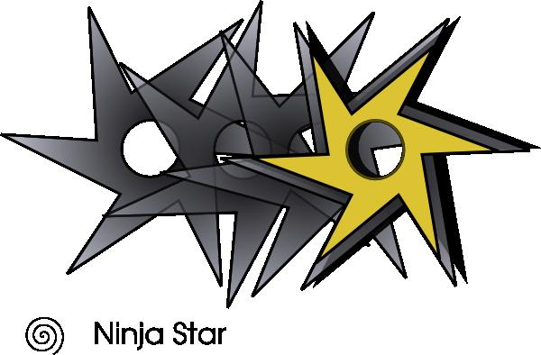 free vector Ninjastar clip art