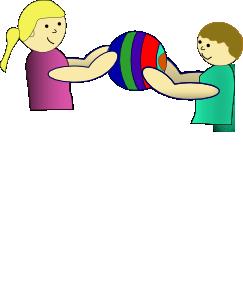 free vector Nlyl Children Sharing A Ball clip art