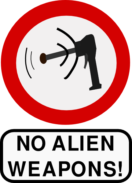 free vector No Alien Weapons clip art