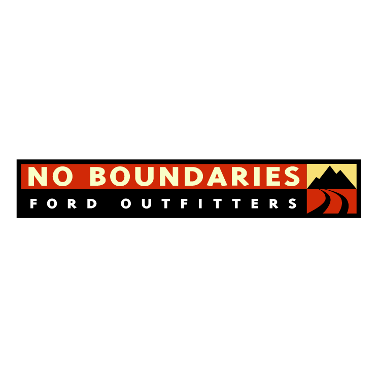 free vector No boundaries ford outfitters