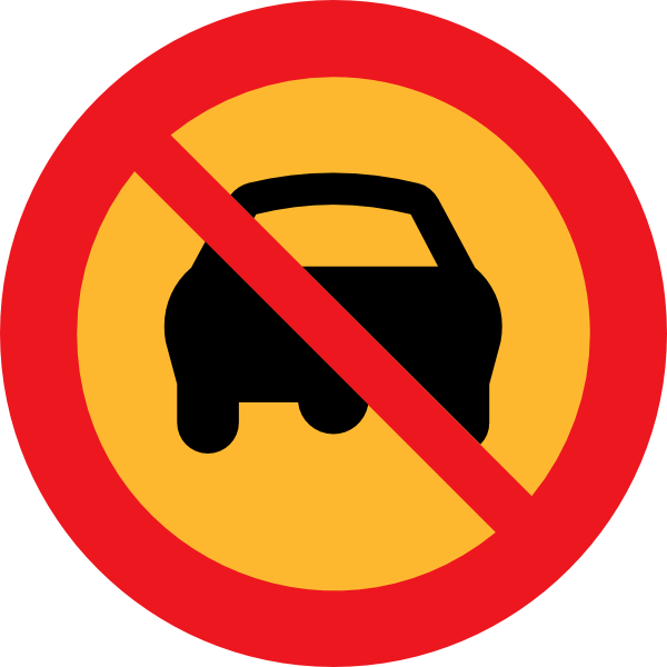 free vector No Cars Sign clip art