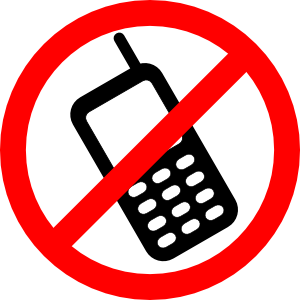 free vector No Cell Phones Allowed clip art