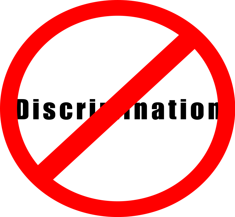 free vector No discrimination sign