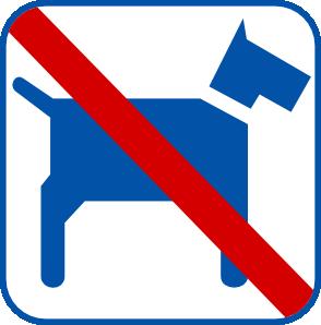 free vector No Dogs clip art