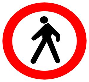 free vector No Entrance Sign clip art
