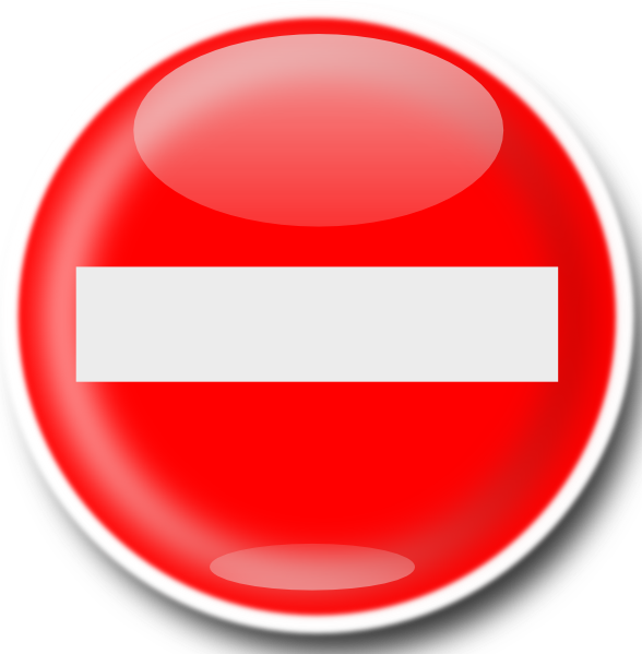 no entry sign clip art free vector 4vector