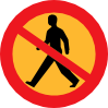 free vector No Entry Sign With A Man clip art