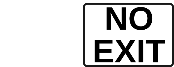 free vector No Exit Sign clip art