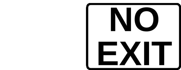 no exit sign clip art free vector 4vector rh 4vector com